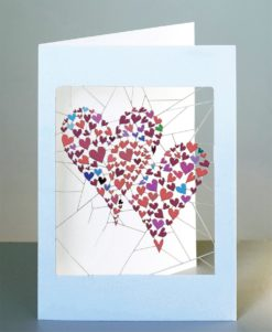 Laser Cut Large Hearts Made of Little Hearts