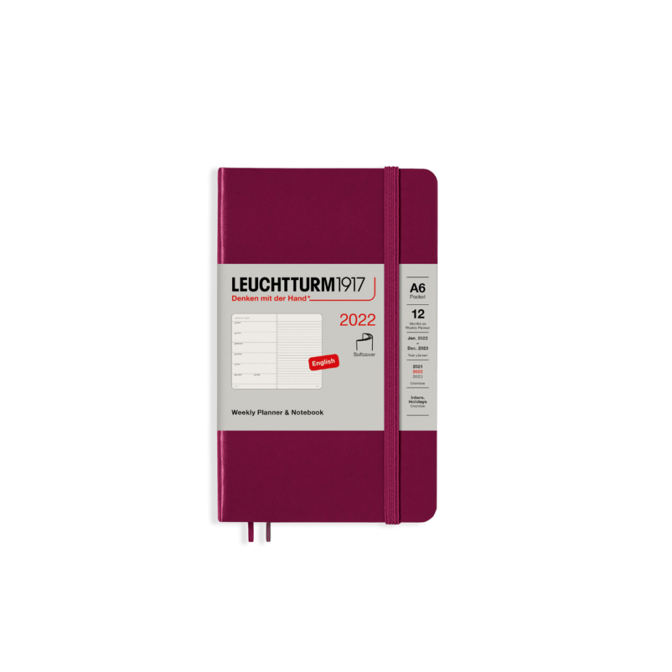 Leuchtturm1917 Weekly Planner 2022 Softcover - Pocket A6 - 10.5 x 14.8 cm