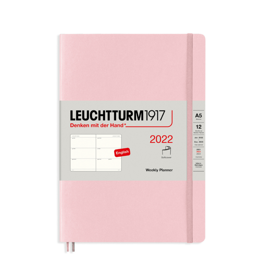 Leuchtturm1917 Weekly Planner 2022 Softcover - A5 - 15 x 21 cm